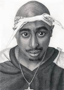 Tupac Shakur Black and White Drawing
