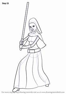 Learn How To Draw Barriss Offee From Star Wars  Star Wars  Step By Step   Drawing Tutorials