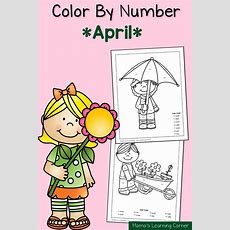 Color By Number Worksheets Spring!  Mamas Learning Corner