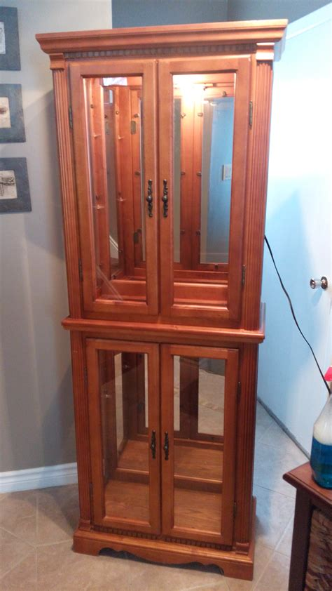 wood and glass curio cabinet solid wood lighted curio cabinet secondhand pursuit