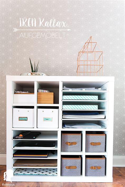 Ikea Hacks Schreibtisch by Mehr Ordnung F 252 R Meine Schreibtisch Mit Kallax Einsatz