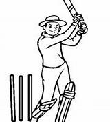 Cricket Coloring Player Ones sketch template