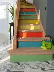 amenagement escalier 4 strategies pour rafraichir l With peindre un escalier en blanc 10 decorer les contremarches dun escalier