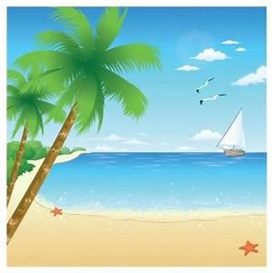 Cartoon Beach Scene - Cliparts.co
