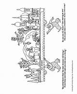 Coloring Parade Christmas Pages Float Baba Sheets Ali Honkingdonkey Floats Meaning Children Fun sketch template