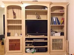 Meuble Bibliothèque Bois : biblioth que en bois meuble de salon en bois ~ Teatrodelosmanantiales.com Idées de Décoration