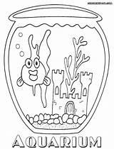 Aquarium Coloring Pages Goldfish Print Colorings sketch template