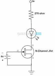 fet as a switch working of mosfet or jfet as a switch With led switch circuit