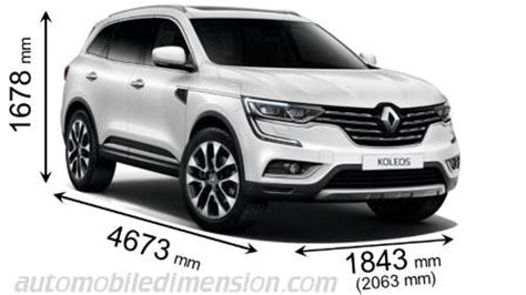 renault koleos 2017 dimensions renault koleos 2017 dimensions boot space and interior