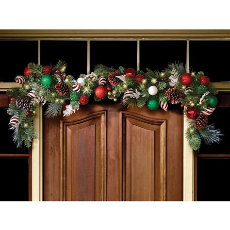 cordless prelit led72 quot christmas ornament garland holiday
