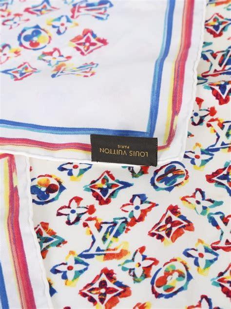 louis vuitton rainbow colorful monogram silk scarf luxury bags