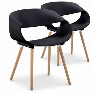 Chaise Scandinave Noir : chaises scandinaves design ritas noir lot de 2 pas cher scandinave deco ~ Teatrodelosmanantiales.com Idées de Décoration