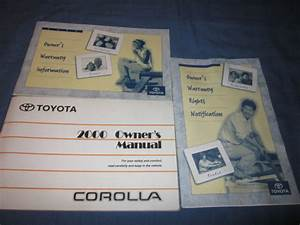 2000 Toyota Corolla Owners Manual Owner U0026 39 S Set Le Dx