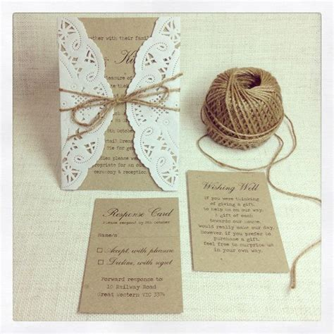 rustic wedding invitations do it yourself wedding