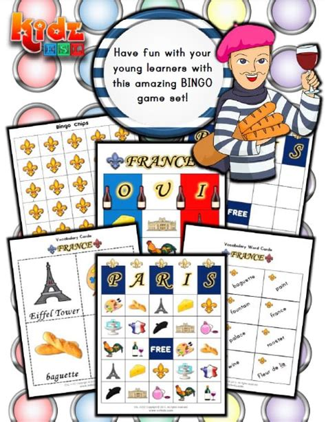 france activities games  worksheets  kids