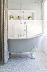 Clawfoot Tub Shower Curtain Ideas by 20 Inspirations That Bring Home The Beauty Of Penny Tiles
