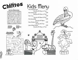 6+ kids menu template | Procedure Template Sample