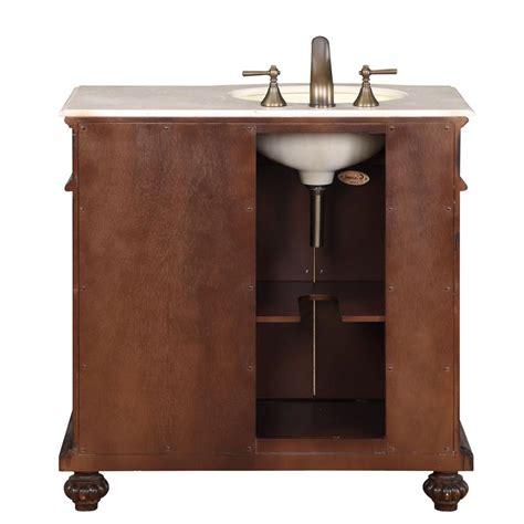 ivory ceramic kitchen sink 36 quot single sink cabinet left sink crema marfil top 4882