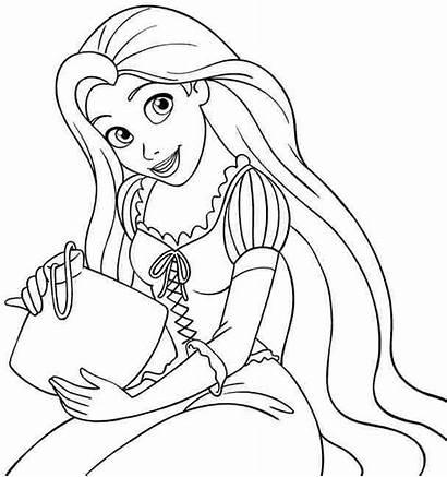 Rapunzel Coloring Princess Disney Tangled Printable Colouring