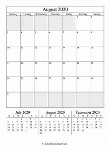 Monthly Calendar November 2020 Printable Editable Calendar August 2020