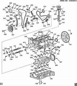 2012 Chevrolet Malibu Key  Engine Crankshaft  Timing Gear