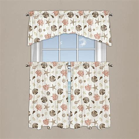 seashore coral window curtain valance bed bath