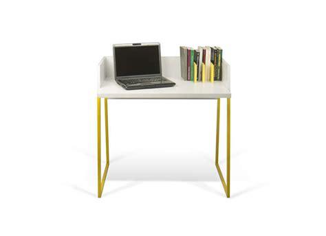 petit bureau d appoint bureau pietement jaune achatdesign