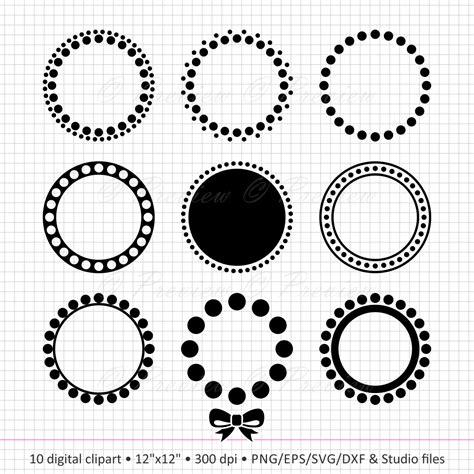 buy     digital clipart circle monogram dot frame
