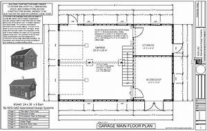 24 x 36 x 8 2 story barn workshop pole barn plans With 24x36 pole barn plans