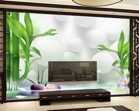beibehang custom wallpaper hd rich bamboo beautiful  tv