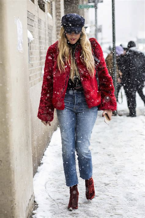 What Fashion People Wear Nyfw During Snowstorm
