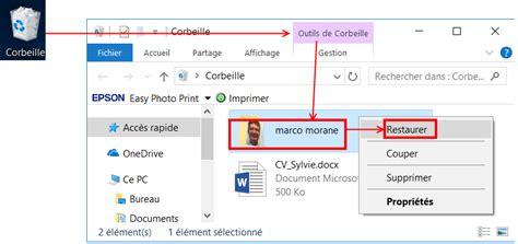 comment afficher la corbeille sur le bureau comment créer un dossier et manipuler les fichiers