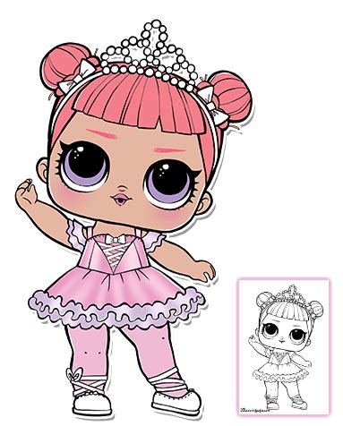 lol surprise doll coloring pages page  color  favorite lol surprise doll baby binky