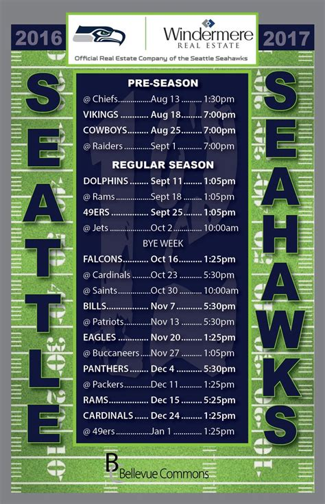 seahawks schedule ideas  pinterest