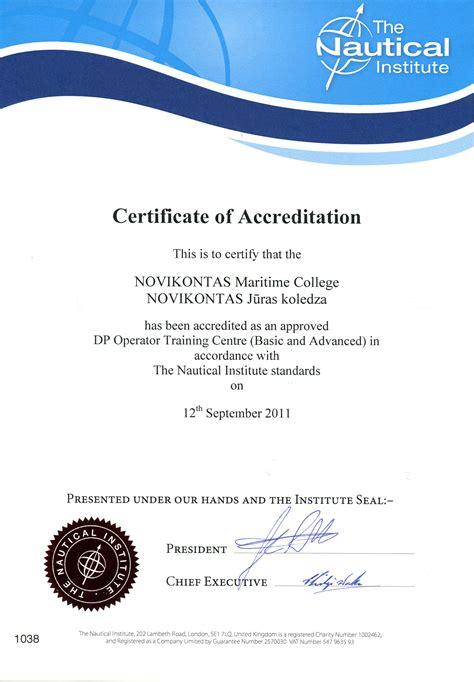 Certificate Courses by Novikontas Center L C