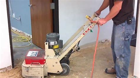 Removing Carpet Glue From Concrete Floor   YouTube