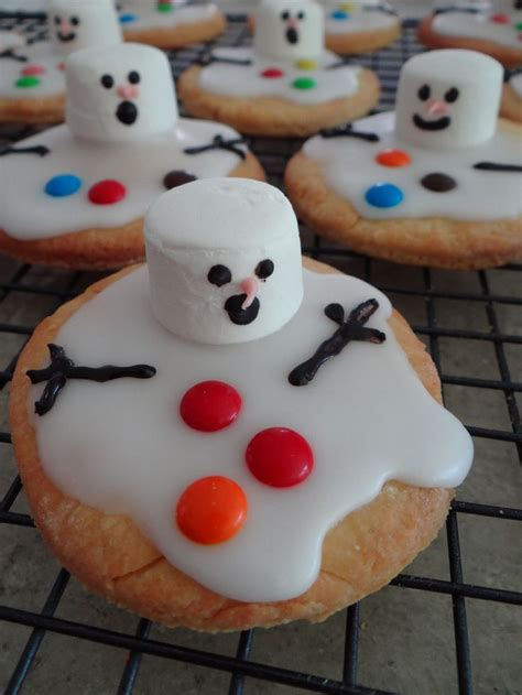 christmas food ideas melted snowman biscuits baking