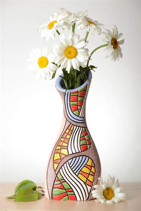 Flower Vases Designs by Madeheart Gt Beautiful Handmade Ceramic Flower Vase Pottery