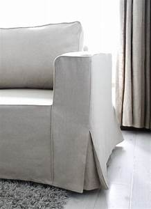 Loose fit linen manstad sofa slipcovers now available for Ikea manstad sofa couch bett