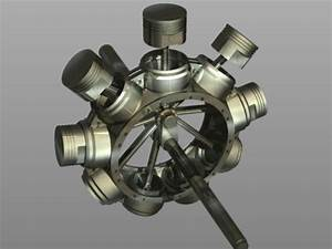 3d Gnome Rotary Engine