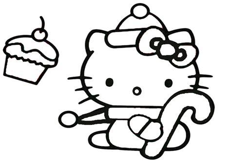 Ausmalbilder Weihnachten Hello Kitty-1