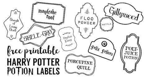 christmas planner printables harry potter potion labels printable paper trail design