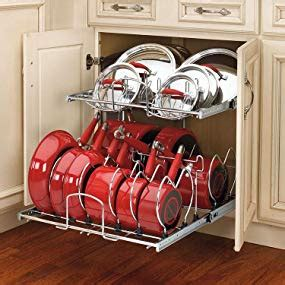 storage for pots and pans in the kitchen rev a shelf 5cw2 2122 cr 21 in pull out 2 9899