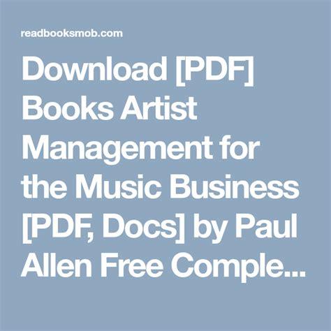 books artist management