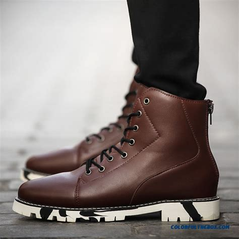 cheap autumn  winter mens shoes young warm high cut boots british style sale