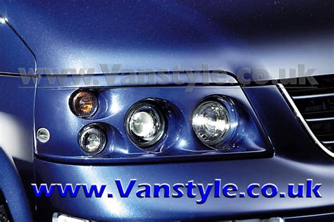 twin headlamp upgrade vw  transporter caravelle   vanstyle