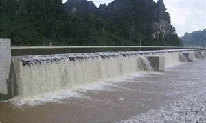 Picture Of The Aerating Weir Downstream Of The Regulating Dam In The