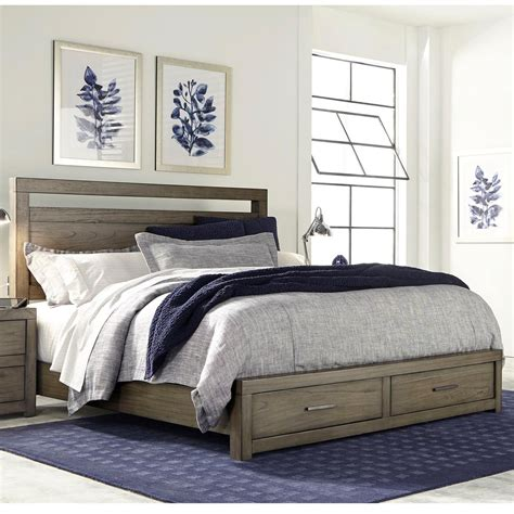 Aspenhome Modern Loft Queen Panel Storage Bed With Usb