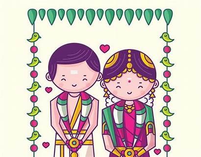 Quirky Indian Invitation Invitations Background Funny Illustration