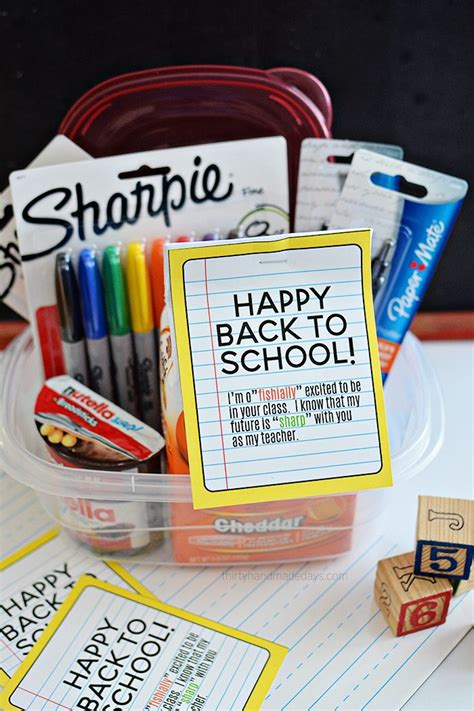 list of gifts to school children back to school gift idea